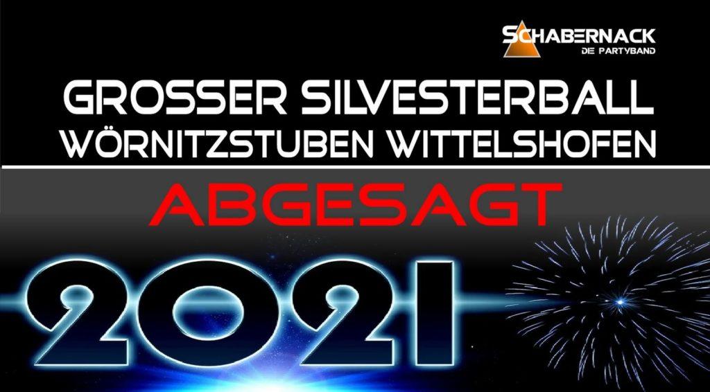 Silvesterball 2020 Wittelshofen abgesagt